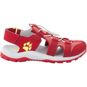 Jack Wolfskin Outdoor Action Sandaler Børn, rød